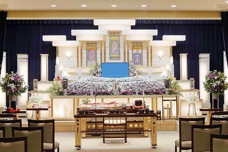 お葬式の祭壇イメージ画像