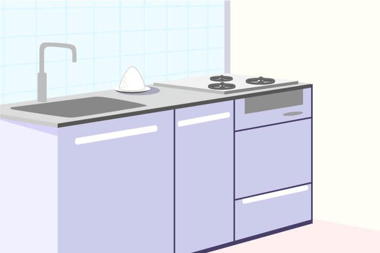 キッチン・台所に盛り塩を置く位置